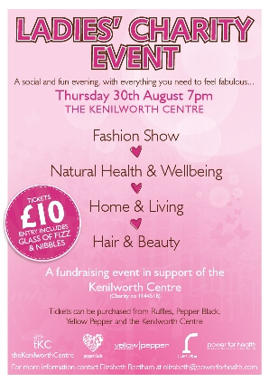 Ladies Charity Event in aid of the Kenilworth Centre 30 August 2012